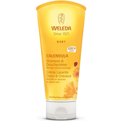 Weleda Calendula Baby shampoo haar en body (200 ml)