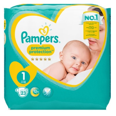 PAMPERS NEW BABY 1 NEWBORN CARRYPACK 2-5 KG (23 st)