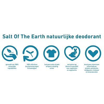 Salt of The Earth Unscented Natural Classic Deodorant eigenschappen
