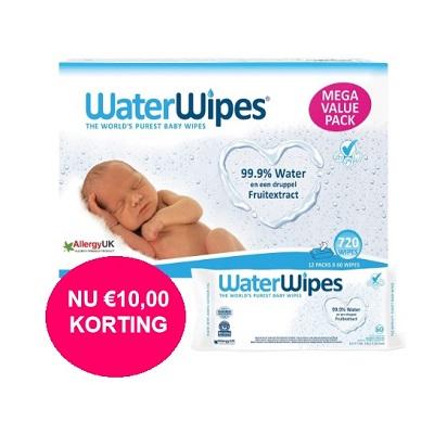 WaterWipes voordeelverpakking 12 x 60 stuks