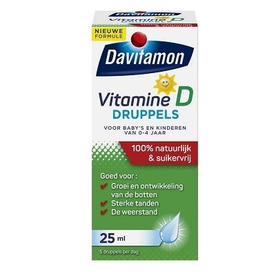 Davitamin vitamine D druppels suikervrij
